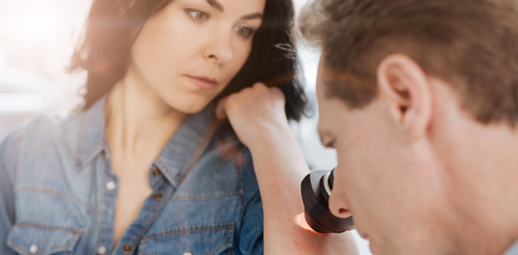 Bild zum Artikel über weißen Hautkrebs